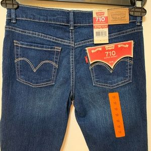 Levi's 710 Girls Super Skinny Jeans Size 12R
